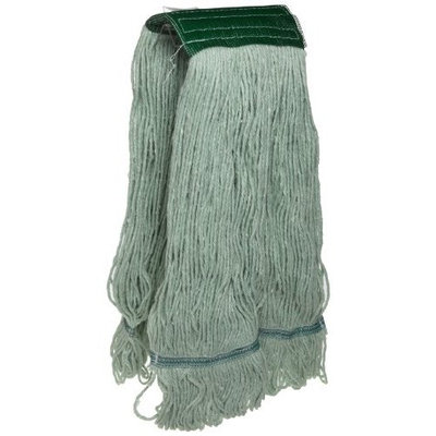 Zephyr 55234 Green+Pro X-Large Yarn Loop Mop Head with Wide Band (Pack of 12)