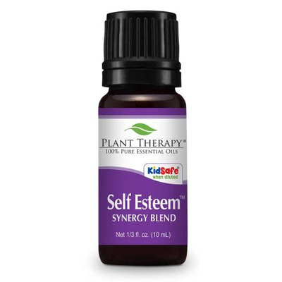 Self Esteem Synergy Essential Oil Blend. 10 ml. 100% Pure, Undiluted, Therapeutic Grade. (Blend of: Spruce, Rosewood, Blue Tansy & Frankincense )