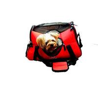 Felji Small Pet Carrier Soft Sided Cat Dog Comfort Travel Tote Shoulder Bag Red