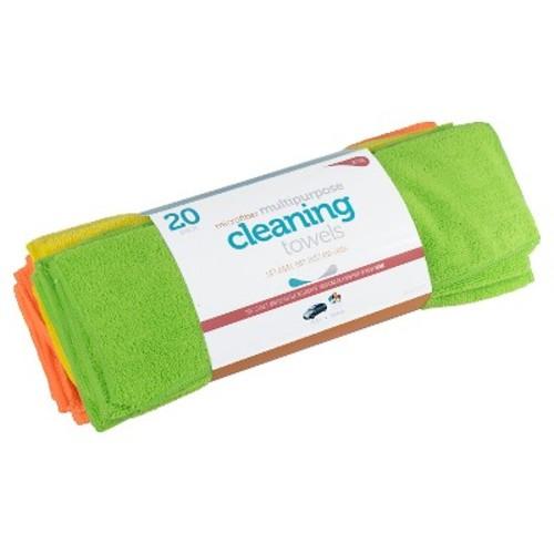 Microfiber Multipurpose Cleaning Towels, 20ct
