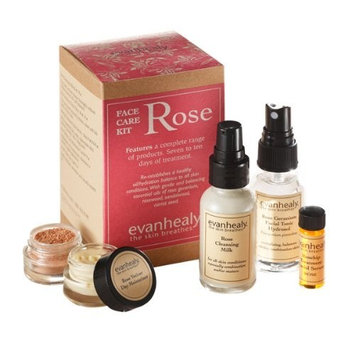 evanhealy Rose Face Care Kit for All Skin Types Especially Dry Oily or Combination Complexions, Features Gentle and Balancing Essential Oils of Rose Geranium and Carrot Seed, Cruelty Free, 1 Kit