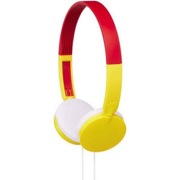 JVC HA-KD3Y Headphone - Stereo - Yellow, Red - Wired - Over-the-head - Binaural - Supra-aural - 2.62 ft Cable