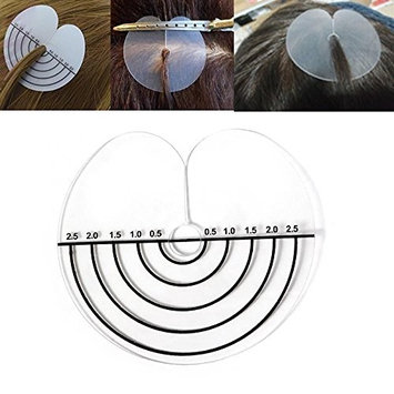 Amesun 20Pcs/Set Heat Fusion Spacer Template Heat Shield Protector and Clips for Feather Hair Extensions Apply