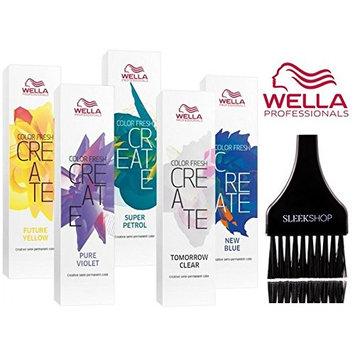Wella COLOR FRESH CREATE Semi Permanent Shades Hair Color (with Sleek Tint Brush)