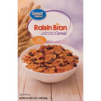 Wal-mart Store, Inc. Great Value Extra Raisin Raisin Bran Cereal, 25.5 oz
