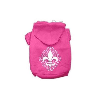 Mirage Pet Products Henna Fleur De Lis Screen Print Pet Hoodies Bright Pink Size XXL (18)