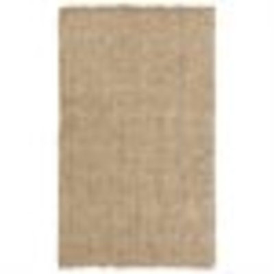 3.25' x 5.25' Deviant Diamonds Beige and Ivory Hand Woven Jute Area Throw Rug