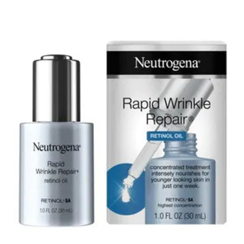 Neutrogena Rapid Wrinkle Repair Retinol Oil Serum for Dark Spots, 1 OZ