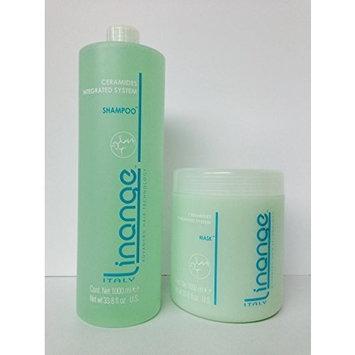 Linange Ceramides Integrated System Shampoo 33.8oz and Mask 33.8oz/1000ml by Linange Italy
