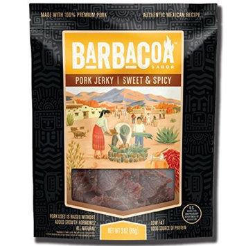 Blend Llc Barbacoa Sabor Pork Jerky, Sweet & Spicy, 3 Oz