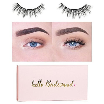 Icona Lashes Premium Quality False Eyelashes | Head Over Heels | Wispy and Flared |Non-Magnetic | Natural Look and Feel | Reusable | 100% Handmade & Cruelty-Free | Bridesmaid Packaging