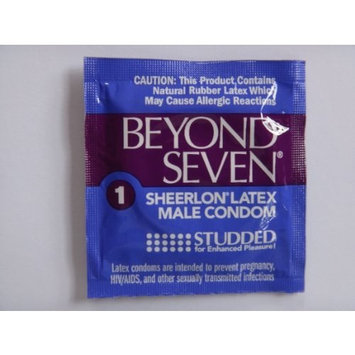 Okamoto Beyond Seven STUDDED Condoms - Also available in quantities of 12, 50, 100 -