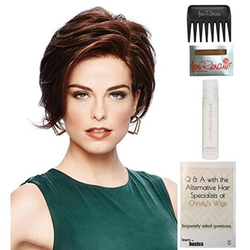 Bundle - 5 items: Sheer Elegance by Gabor, 15 Page Christy's Wigs Q & A Booklet, 2oz Travel Size Wig Shampoo, Wig Cap & Wide Tooth Comb - Color: SS1125