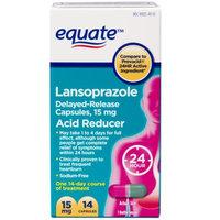 Equate Lansoprazole Acid Reducer Capsules, 14 count