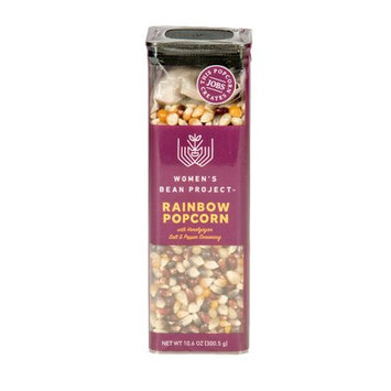Women's Bean Project Rainbow Popcorn with Pink Himalayan Salt & Black Pepper Spice Seasoning, 10.6 oz. box