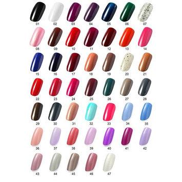 OneDor® One Step Gel Polish UV Led Cured Nail Polish No Base or Top Coat Nail Need (010227-Black,White,Light Ash)