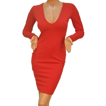 Sexy Women Bandage Bodycon Long Sleeve Evening Party Red Slim Pencil Dress