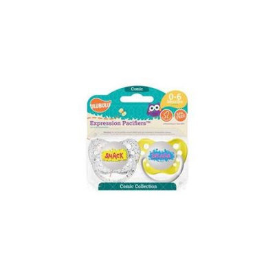 Ulubulu 0 - 6 Month Comic Pacifiers 2-Pack - Smack and Splash