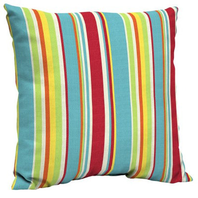Arden Companies Mainstays Outdoor Patio Dining Pillow Back, Multi Stripe