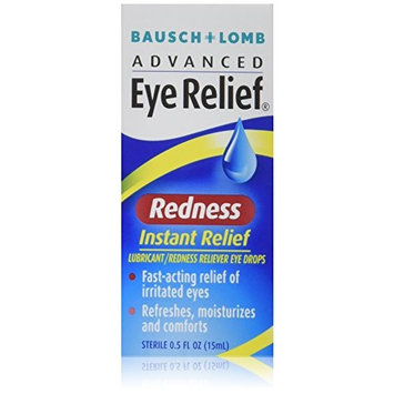 Bausch & Lomb Advanced Eye Relief Redness Instant Relief Eye Drops 0.50 oz (Pack of 3)