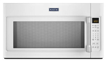 White with SS Accents Maytag(R) 2.0 cu. ft. Over-the-Range Microwave with Sensor Cooking