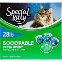 Wal-mart Stores, Inc. Special Kitty Multiple Cat Clumping Cat Litter, 28 lbs