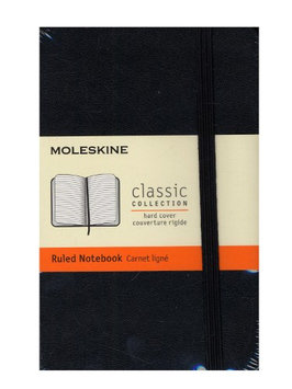 Moleskine Classic Hard Cover Notebooks black, 3 1/2 in. x 5 1/2 in, 192 pages, lined [pack of 2]