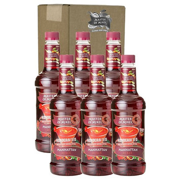 Master of Mixes Manhattan Drink Mix, Ready To Use, 1 Liter Bottle (33.8 Fl Oz), Pack of 6