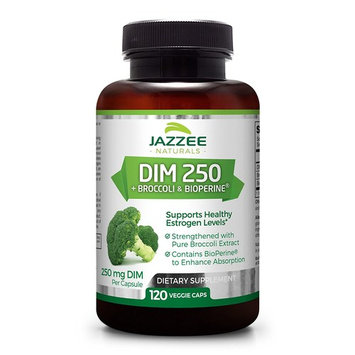 DIM 250 mg | 120 Veggie Caps | 10 mg BioPerine | 4 Month Supply | Plus Pure Broccoli Extract | Vegan/Vegetarian | 250mg per Capsule | Extra Strength | Supports Healthy Estrogen Levels and Metabolism