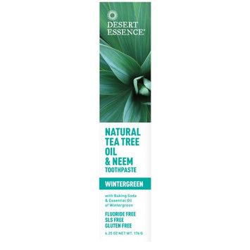 Desert Essence Tea Tree Oil & Neem Toothpaste Wintergreen 6.25 oz(pack of 6)