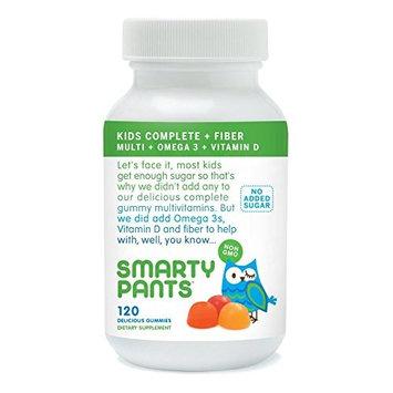 SmartyPants Kids Fiber Complete, Multi Plus Omega 3 and Vitamin D, 120 Count (3 Pack)