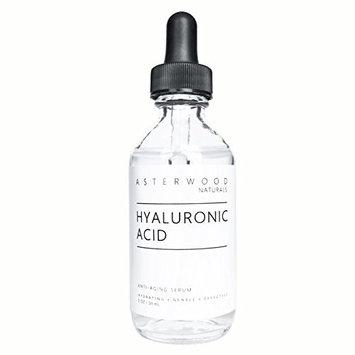 Hyaluronic Acid Serum 2 oz - 100% Pure Organic HA - Anti Aging Anti Wrinkle - Original Face Moisturizer for Dry Skin & Fine Lines - Leaves Skin Full & Plump ASTERWOOD NATURALS Dropper Bottle