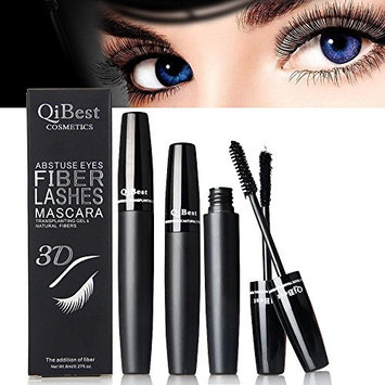3D Fiber Lashes Mascara, Waterproof & Long Lasting, 3 Steps Easy to Apply for Thicker & Longer Lashes, Non-Toxic Hypoallergenic Ingredients (Black)