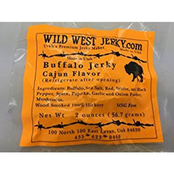 #1 BEST Premium 100% Natural Grass Fed Hand Stripped 2 OZ. Thick Cut Delicious Tasty Bold Flavor Buffalo Jerky from Utah USA – Wood smoked With Hickory Wood by Wild West Jerky: Grocery & Gourmet Food