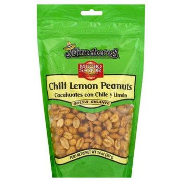 New Century Snacks Muncheros Chili Lemon Peanuts, 14 oz