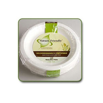 Biodegradable 9 inch Classic Round Plate (Pack of 25)