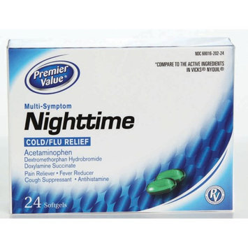 Premier Value Nighttime Softgels (Non Pseudo) - 24ct