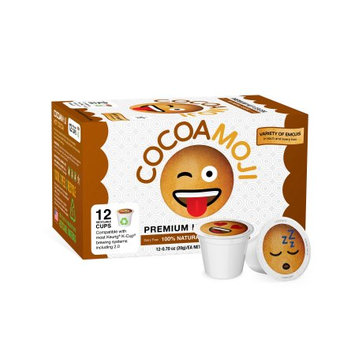 CocoaMoji, Emoji K-Cup Pods, All Natural Hot Cocoa, 100% Recyclable, 12 Ct (Pack of 6)