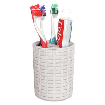 Superio Toothbrush and Toothpaste Holder (White)