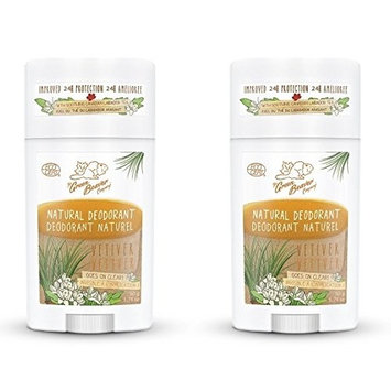 Green Beaver Vetiver Natural Deodorant Stick (Pack of 2) with Organic Aloe Vera Juice, Sage Oil, Labrador Tea and Chamomile Flower Water, Aluminum-free,...