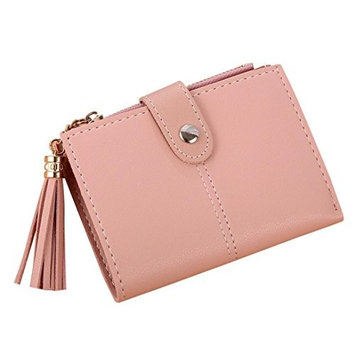 MM&I Women Simple Short Tassel Coin Purse Card Holders Handbag Wallet