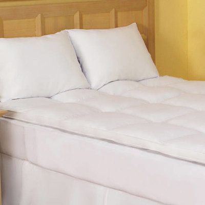 Dreamy Nights Cotton Fiberbed Mattress Topper in Multiple Sizes