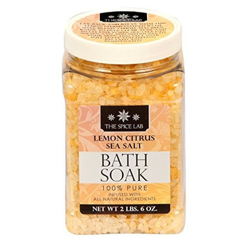 The Spice Lab 100% Pure Lemon Citrus Sea Salt Bath Soak - Detox Infused with All Natural Ingredients