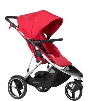 phil & teds Dash Inline Stroller in Red