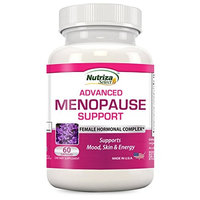 Nutriza Advanced Menopause Support - Natural Female Hormonal Complex For Hot Flashes, Mood Swings & Vaginal Dryness - Black Cohosh, Soy Isoflavones & Herbal Extract Formula - Does Not Include Hormones