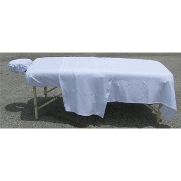 Deluxe Double Jersey Massage Sheet Sets, White