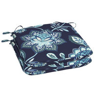 Arden Companies Better Homes and Gardens Outdoor Patio Universal Seat Pad, Set of Two, Toile Jac Navy