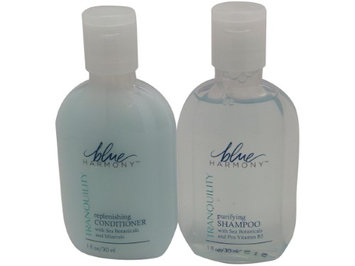 Blue Harmony Shampoo & Conditioner Lot of 16 Each 1oz Bottles. 8 of Each