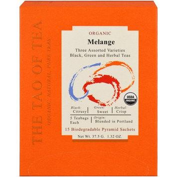The Tao of Tea, Organic Melange, Three Assorted Varieties, 15 Pyramid Sachets, 1.32 oz (37.5 g) [Flavor : Melange, Three Assorted Varieties]