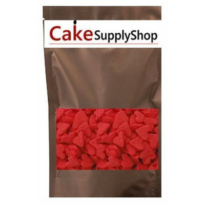 CakeSupplyShop Item#ED001 - Valentine Jumbo Red Heart Shapes Edible Sprinkles for Cakes and Cupcakes/Food Decoration 6 oz